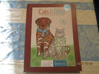Art Unplugged Cats & Dogs Adult Coloring book