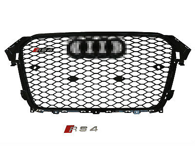 For 2013-2015 Audi A4  B8.5 RS4 Style Honeycomb Mesh Hex Grille Grill Black