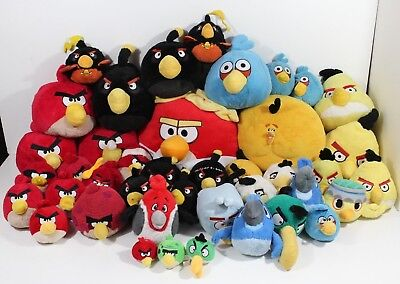 Huge Lot Of 41 Angry Birds Plush Stuffed Animals Toys Mixed Bundle