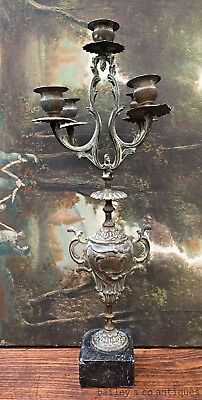 Antique French Bronze Candelabra Ornate - QN576