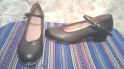NEW Bloch Womens BLACK LEATHER MARY JANE TAP DANCE  SHOES SIZE 8.5