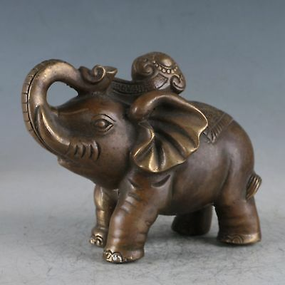 Exquisite Brass Elephant Statue HT0031