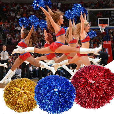 14A2 1Pair Newest Handheld Creative Cheerleader Cheer Pom Dance Party Decor