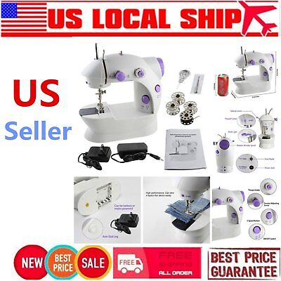 Portable Mini Handheld Electric Sewing Machine Desktop Home Household Sewing~CG