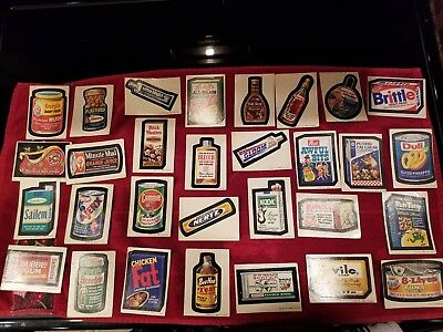 Lot of 30 1970s Wacky Packages 2nd series stickers
