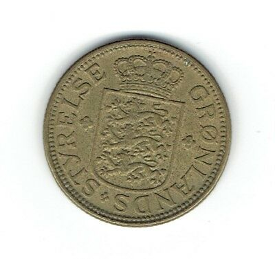 Danish Colony Greenland 1926 KM#7 fifty ore face value coin
