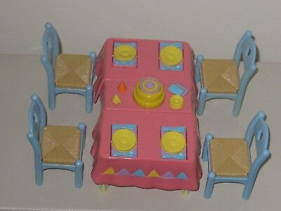 fisher price loving family 1990's...dining table and 4 chairs