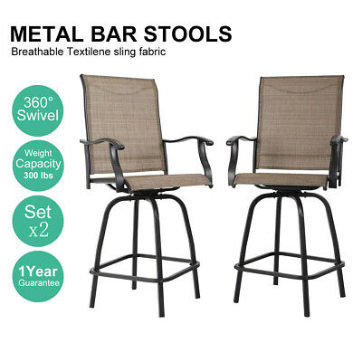 Brilliant Phi Villa Outdoor Patio Bistro High Chairs Sling Swivel Bar Andrewgaddart Wooden Chair Designs For Living Room Andrewgaddartcom