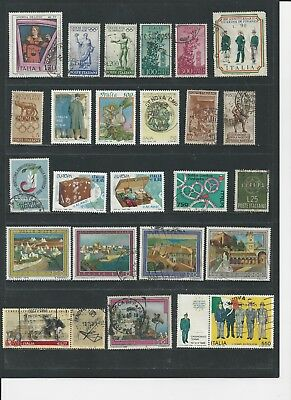 ITALY - LARGE COLLECTION OF USED STAMPS (4 SCANS) - #ITA9abcd