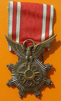 "SYRIA Medal Order of Military Merit made by ""Arthus Bertrand Co"" France"