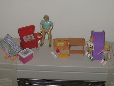 fisher price loving family 1990's...barbecue setting