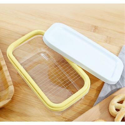 Tupperware Butter Buddy Butter/Cheese Keeper Storage Box Yellow With Cutting