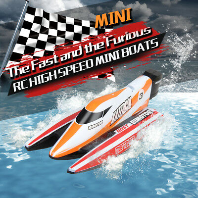 3313M Mini Electric RC Rowing Remote Control Speedboat Boat Water Toy ABS #ur