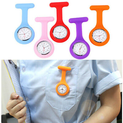 1Pc Silicone Nurse Watch Brooch Tunic Fob Watch With Free Battery Doctor Medical
