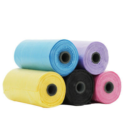 5 Rolls of 100 Bags Pet Dog Cat Waste Poop Poo Refill Core Pick-up Clean-Up Bag