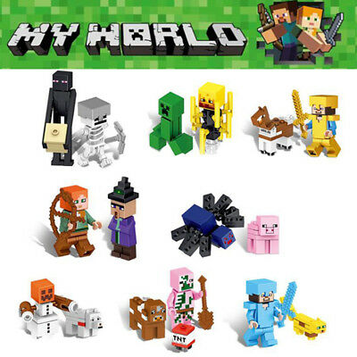 16Pcs Minecraft My World Series Mini Figures Characters Building Blocks Toy Gift