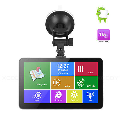 Android OS 7'' GPS Navigation 16GB WIFI Real-Time Traffic Capacitive Sreen Unit