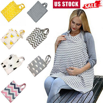 Breastfeeding Cover Baby Infant Breathable Cotton Nursing Cover Feeding Cover US