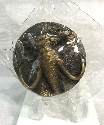 2015 Shanghai Mint Prehistoric Animals Mammoth Brass Medal 50mm