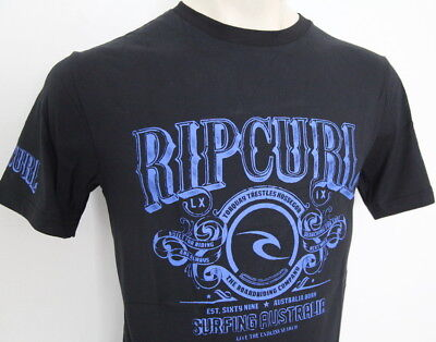 RIP CURL Mens 2019 Brand New Genuine Premium Surf tee t-shirt top black S-3XL