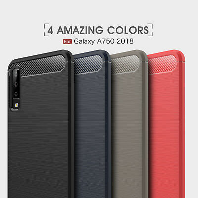 For Samsung Galaxy A7 2018 A750 Cover Non-slip Brushed Soft Silicone Slim Case