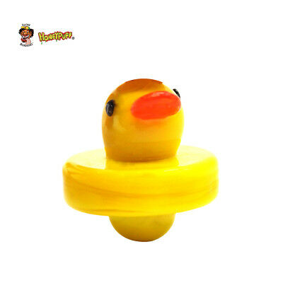 Funny Small Duck Shape Glass Carb Cap Oil Covers Handle Tool 1.0 Inch