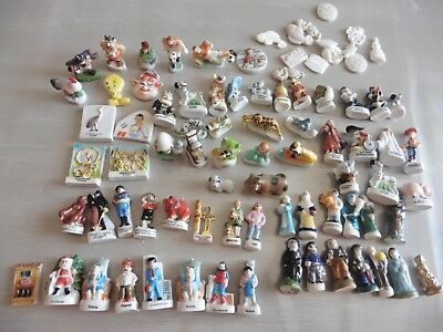 Lot De 85 Feves Porcelaine Walt Disney Santon Foot Etc...........