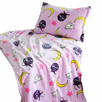 GK-O Sailor Moon Blanket Tsukino Usagi Cosplay Purple Luna Blanket (Pillowcase