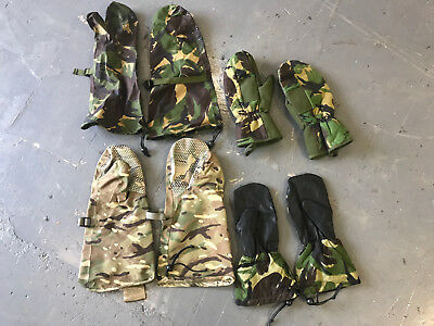 Job lot of 4 x pairs of British army surplus camouflage mitts / gloves