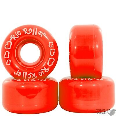 "RIO ROLLER ""Coaster"" 58mm Rollerskate Wheels x4 RED Small Roller Skate"