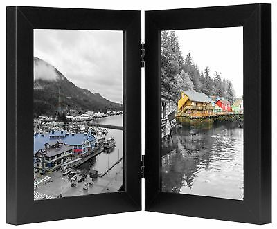 Golden State Art, Decorative Hinged Table Desk Top Picture Photo Frame, 2
