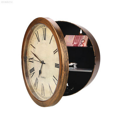 D215 Secret Hidden Wall Clock Home Security Valuables Cash Jewellery Storage Saf