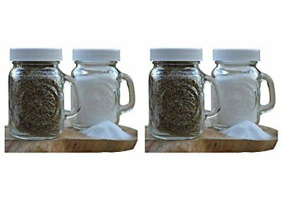 Golden Harvest, Ball Mason Jar Glass Salt and Pepper Shakers (Clear, Set of 2)