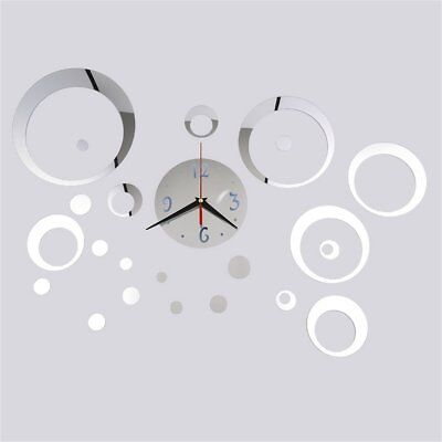 23 Pcs/Set DTY Home Decor Mirror Wall Stickers Clock Living Room Wall Clock OL