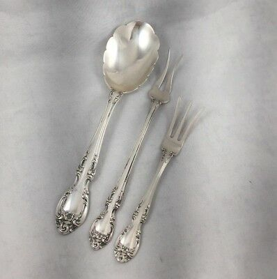 Melrose by Gorham Sterling Sugar Spoon, Lemon and Pickle Fork