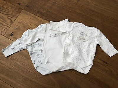 Next Baby Unisex Boys Girl Babygrow Long Sleeves Vests Up To 1 Month Teddy Bear