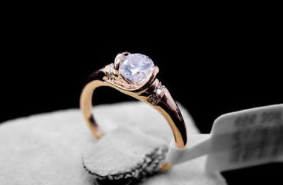 Women's Engagement Genuine Rose Gold 1.95 ct Eternity Diamond Ring size 7.5