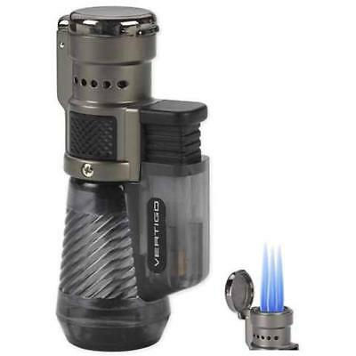 Vertigo By Lotus Cyclone Triple Torch Cigar Lighter Charcoal 2 Pack Gift New