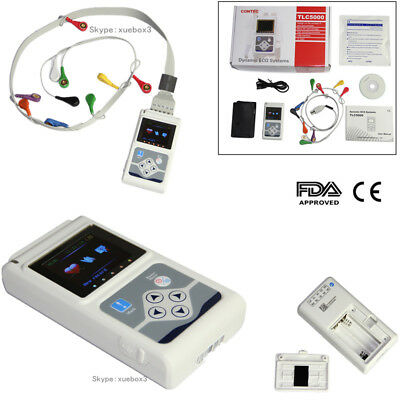 TLC5000 Dynamic ECG System ECG/EKG Holter 12 Channel 24h ANALYZER/RECORDER,New