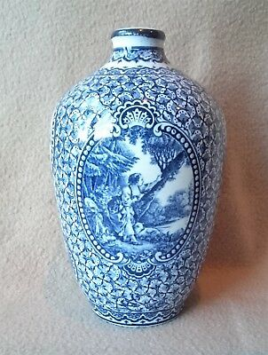 Antique German Royal Bonn Franz Anton Mehlem Louis Xvi Blue White Ceramic Vase 2