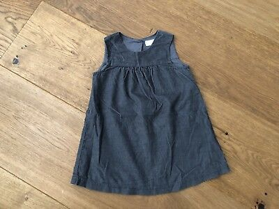The Little White Company Corduroy Dress In Grey 9-12 Months