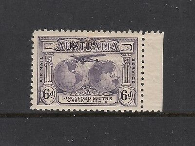 1931 6d Violet Kingsford Smith SG 135, perfectly centred right marginal MUH.