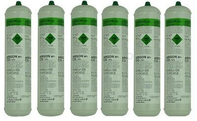 DISPOSABLE ARGON/CO2 GAS BOTTLES FOR MIG WELDING x 6 cylinders