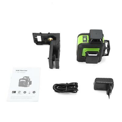Laser Level 12 Line Green Self Leveling 3D 360° Rotary Cross Measure Tool CE