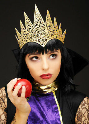 Snow White Wicked Queen Style Gold Crown Headpiece
