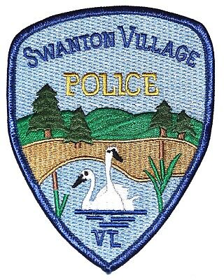 SWANTON VILLAGE VERMONT VT Police Sheriff Patch SWANS LAKE PARK ~
