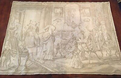 """Antique Tapestry Formal Sitting Room Colonial Belgium 38"""" x 53"""""""