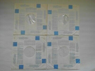 "12""RECORD INNER SLEEVES.X  8 DECCA . POLYLINED .1970s  BLUE BLOCKS. STEREO,"