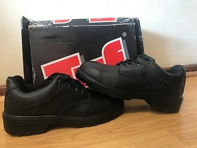 Antistatic Capps LH407 Unisex Laced Oxford Black Leather Toe Cap shoes