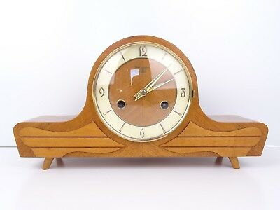 German Vintage Antique Mantle Mantel Clock Hermle (Kienzle Junghans Era)